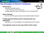 key strengths of informix timeseries