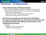 time series vti improvements