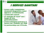 i servizi sanitari