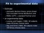 fit to experimental data