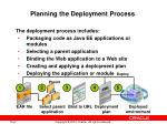 planning the deployment process