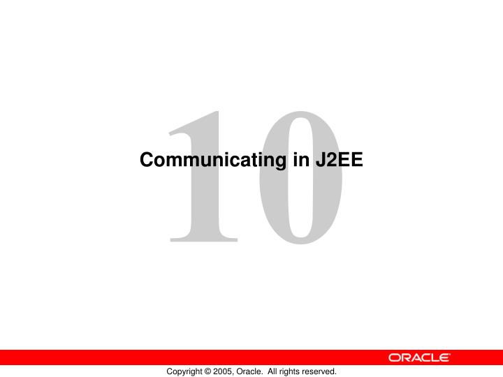 communicating in j2ee n.
