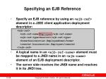 specifying an ejb reference