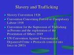 slavery and trafficking