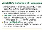 aristotle s definition of happiness