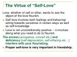 the virtue of self love