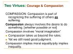 two virtues courage compassion1