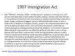 1907 immigration act