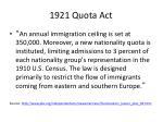 1921 quota act