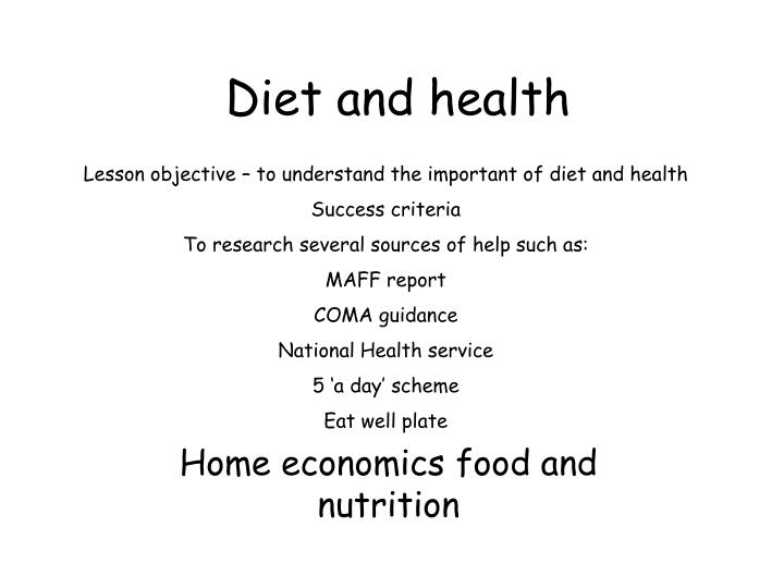 diet and health n.