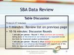 sba data review1