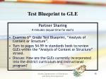 test blueprint to gle
