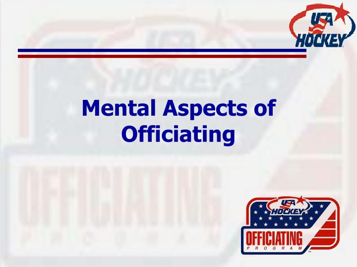 mental aspects of officiating n.