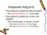 compound subjects