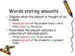 words stating amounts