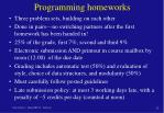 programming homeworks