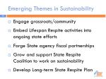 emerging themes in sustainability
