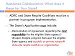 mandated collaboration what does it mean for your state