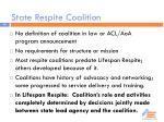 state respite coalition