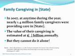 family caregiving in state