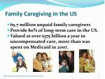 family caregiving in the us