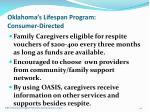 oklahoma s lifespan program consumer directed