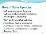 role of state agencies