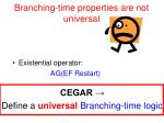branching time properties are not universal