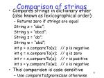 comparison of strings