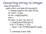 converting string to integer