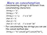 more on concatenation