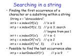 searching in a string