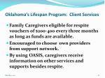 oklahoma s lifespan program client services