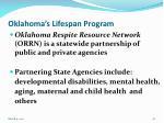 oklahoma s lifespan program