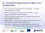 el vahendid euroopa elukestva ppe ruumi arendamiseks