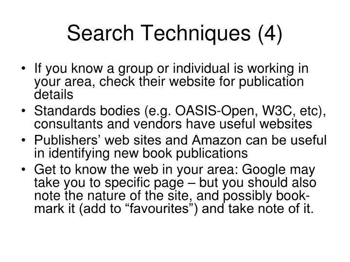 Search Techniques (4)