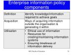 enterprise information policy components