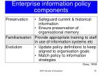 enterprise information policy components2