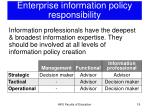 enterprise information policy responsibility