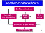 good organisational health