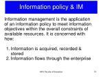 information policy im