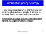 information policy strategy