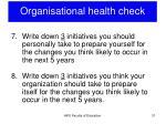 organisational health check5