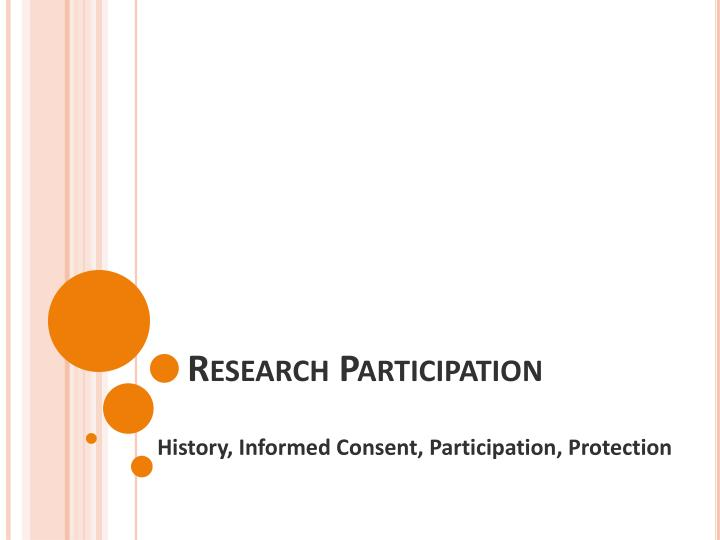 research participation n.