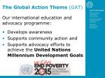 the global action theme gat