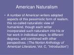 american naturalism