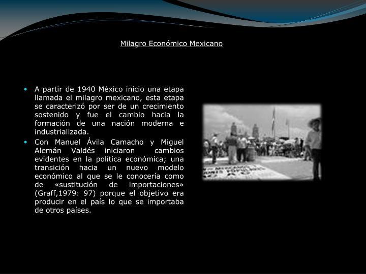 Milagro Económico Mexicano