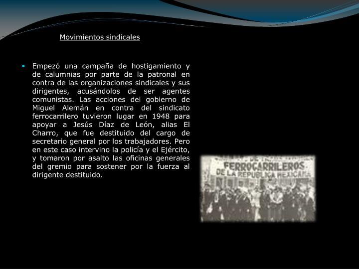 Movimientos sindicales