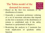 the tobin model of the demand for money