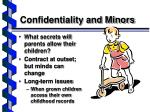 confidentiality and minors